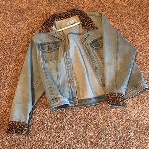 Cheetah print Jean jacket